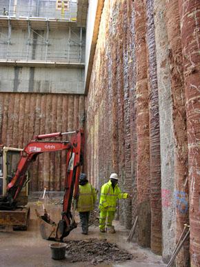 Secant Bored Pile Retaining Walls P J Edwards Amp Co Uk Ltd